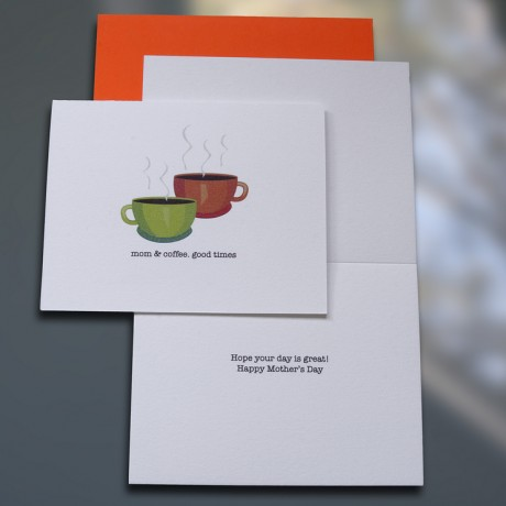 Mom & Coffee Mother's Day Card - Sky of Blue Cards - $4.50 each