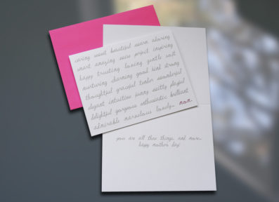 Caring Sweet Beautiful Mother's Day Card – Sky of Blue Cards – $4.50 each