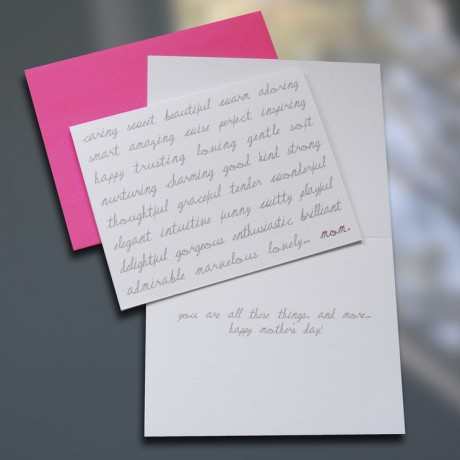 Caring Sweet Beautiful Mother's Day Card - Sky of Blue Cards - $4.50 each