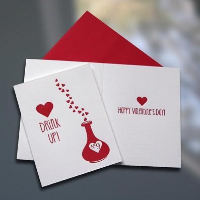 Love Potion Letterpress Valentine's Day Card – Sky of Blue Cards – $4.50