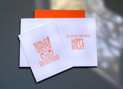 Birthday Adorability Envelope Letterpress Birthday Card – Sky of Blue Cards – $4.50