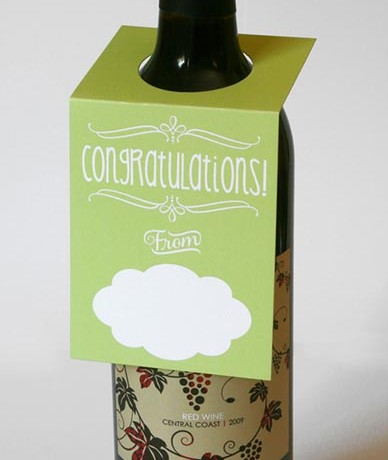 Congratulations Wine Bottle Tags - Sky of Blue Cards - $5.00