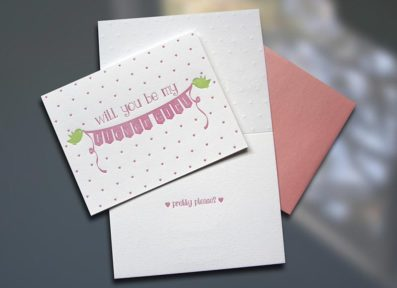 Flower Girl Letterpress Card – Sky of Blue Cards – $4.50