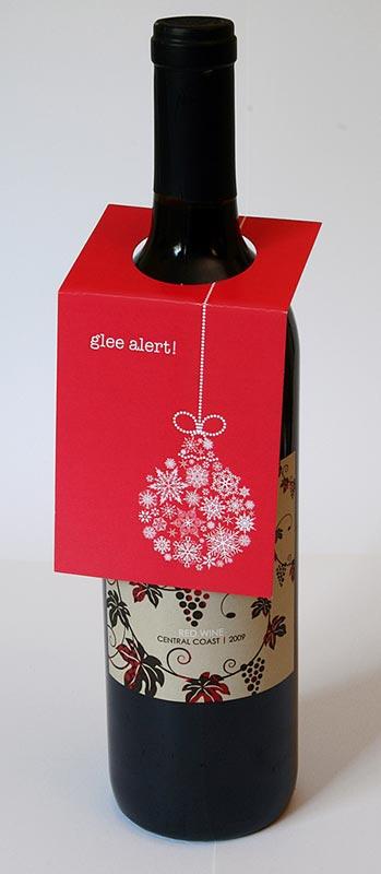 Glee Wine Bottle Tag – Sky of Blue Cards – $5.00