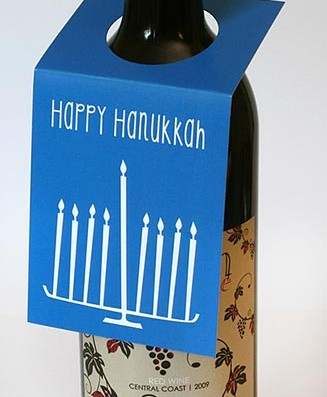 Hanukkah Wine Bottle Tags – Sky of Blue Cards – $5.00