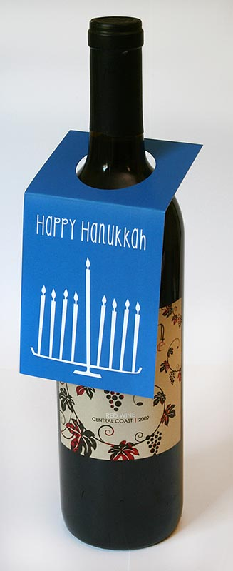 Hanukkah Wine Bottle Tags – Sky of Blue Cards – $5.00