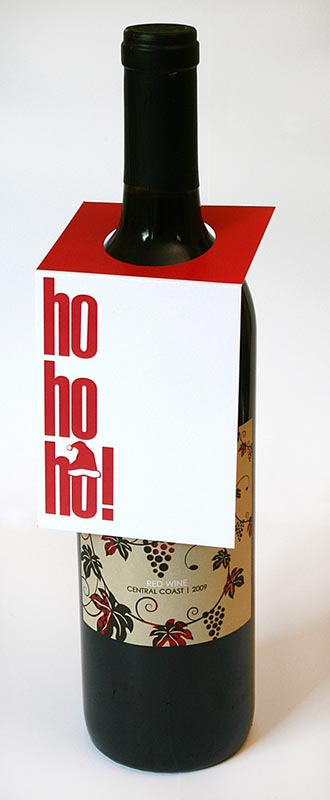 ho-ho-ho Wine Bottle Tags – Sky of Blue Cards – $5.00