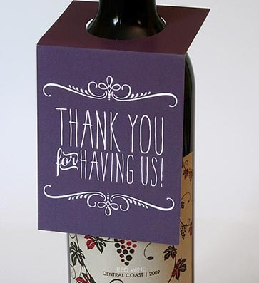 Thank You Wine Bottle Tags – Sky of Blue Cards – $5.00