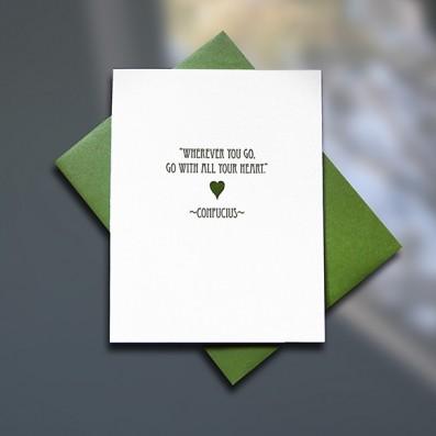 Confucius Letterpress Graduation Card – Sky of Blue Cards – $4.50 single