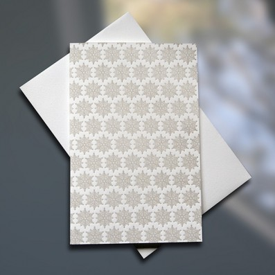 Snowflake Pattern Mini letterpress card - Sky of Blue Cards - $3.80 single $15 Boxed Set of 6