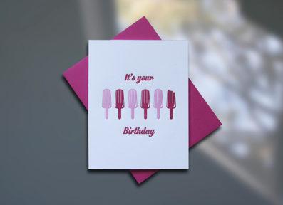 Popsicles Letterpress Birthday Card - Sky of Blue Cards - $4.50 single