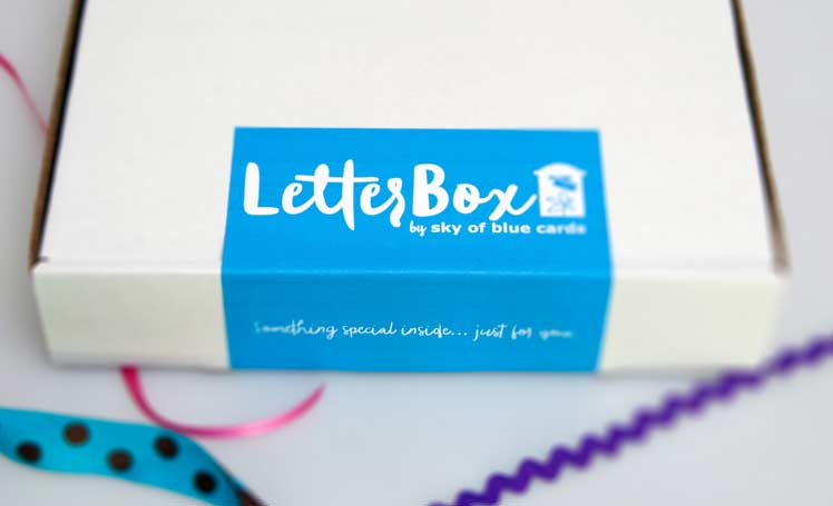 LetterBox Subscription Service - starting at $35 per season - sky of blue cards
