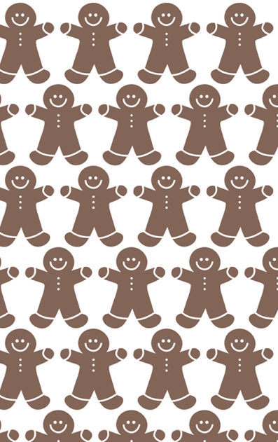 GIngerbread Men Holiday Gift Wrap from Sky of Blue Cards $6 for 2 sheets