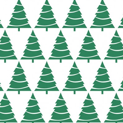 Xmas Tree Pattern Holiday Gift Wrap from Sky of Blue Cards $6 for 2 sheets