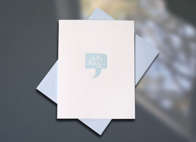 Oh Hey Birthday Letterpress Card — Sky of Blue Cards — $5/single