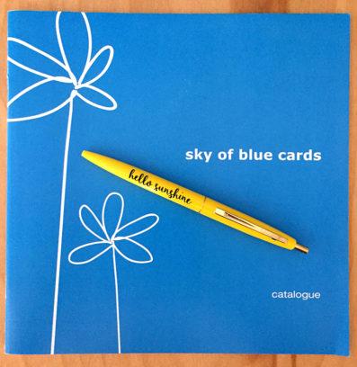 Sky of Blue Cards Catalog