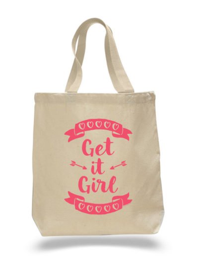 Get It Girl Tote Bag by Sky of Blue Cards – $20 www.skyofbluecards.com