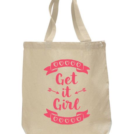 Get It Girl Tote Bag by Sky of Blue Cards - $20 www.skyofbluecards.com