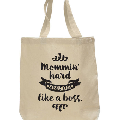 Mommin' Hard Tote Bag by Sky of Blue Cards - $20 www.skyofbluecards.com