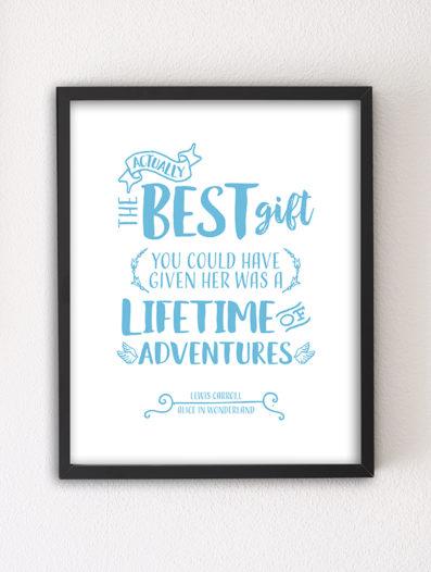 The Best Gift 8×10 Letterpress motivational art print by Sky of Blue Cards — $5.95, unframed www.skyofbluecards.com
