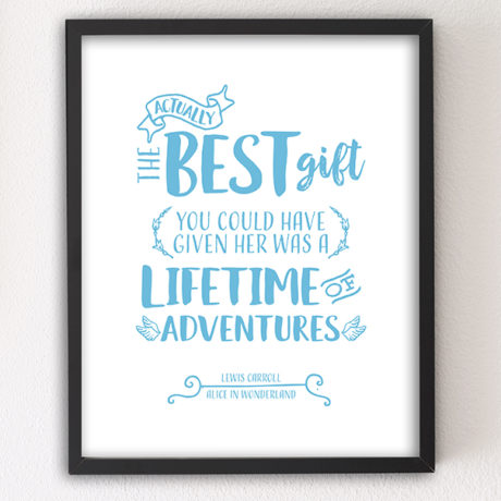 The Best Gift 8x10 Letterpress motivational art print by Sky of Blue Cards — $5.95, unframed www.skyofbluecards.com
