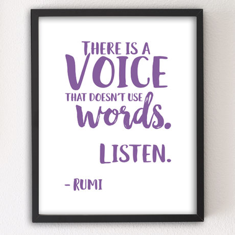 There is a Voice 8x10 letterpress motivational art print by Sky of Blue Cards — $5.95, unframed www.skyofbluecards.com