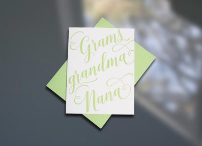 Grams Letterpress Mother's Day card by Sky of Blue Cards. $5/single www.skyofbluecards.com