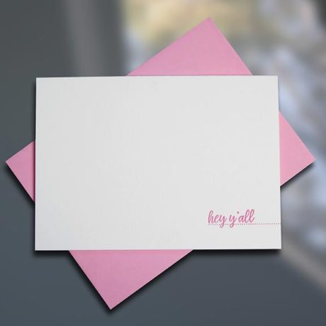 Hey Y'all - Southern Series Letterpress Note Cards by Sky of Blue Cards. $4/single $18/boxed set of 6 www.skyofbluecards.com