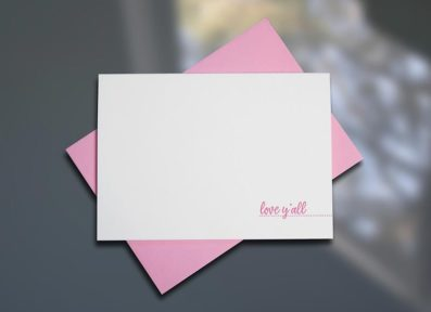 Love Y'all – Southern Series Letterpress Note Cards by Sky of Blue Cards. $4/single $18/boxed set of 6 www.skyofbluecards.com