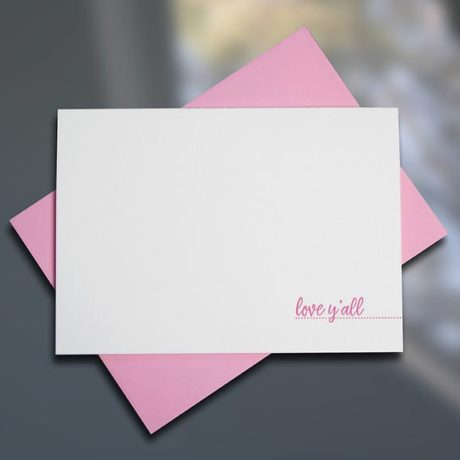Love Y'all - Southern Series Letterpress Note Cards by Sky of Blue Cards. $4/single $18/boxed set of 6 www.skyofbluecards.com