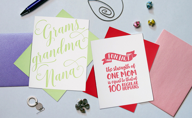 Letterpress Mother's Day Cards, $5.00