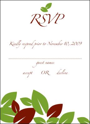 RSVP Self Mailer Card Back