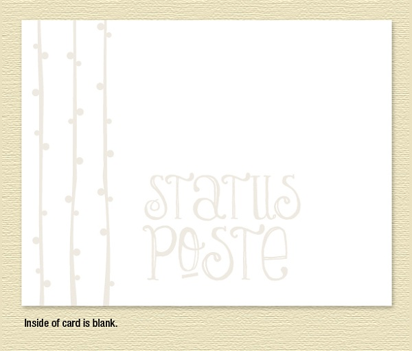 Status Poste Note Cards