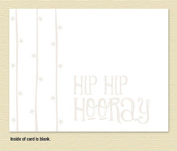Hip Hip Hooray Note Cards