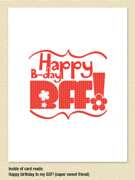 BFF Birthday Card