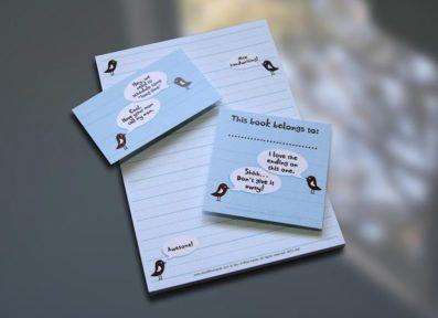 Birdie Notepad Set – Sky of Blue Cards – $7-$19