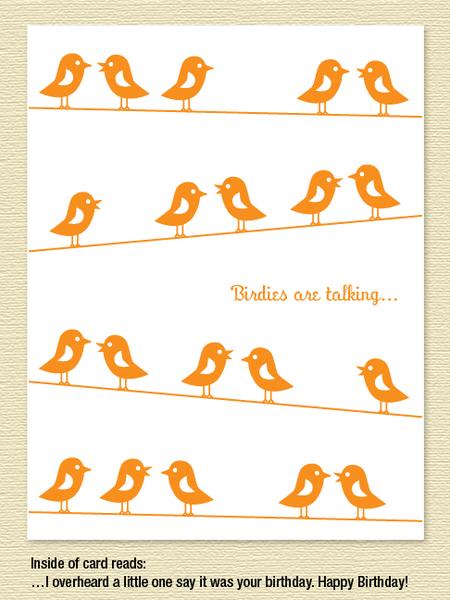 Birdies Birthday Card