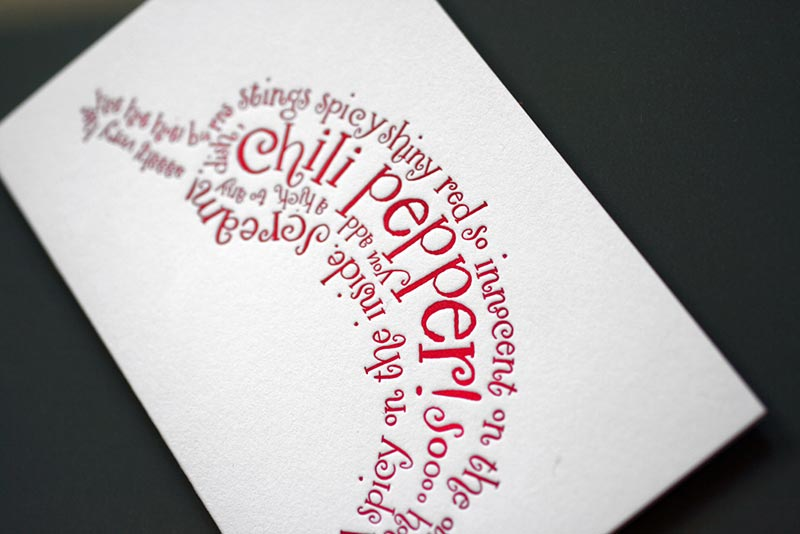 Chili Pepper Poem Note Card