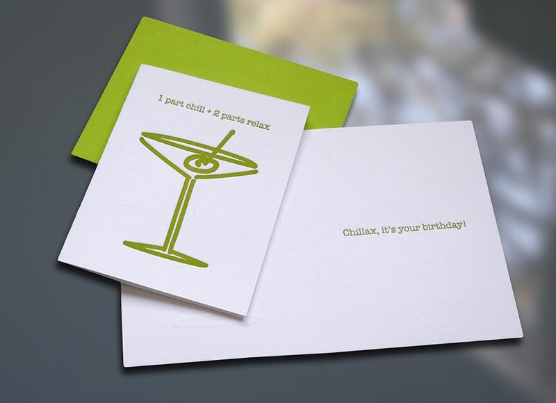 Chillax Birthday Card