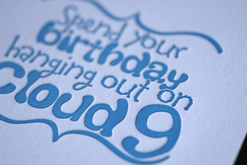 Cloud 9 Birthday Card