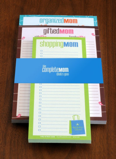 Complete Mom Notepad Set – Sky of Blue Cards – $18