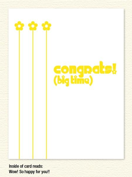 Congrats Daisies – Congratulations Card