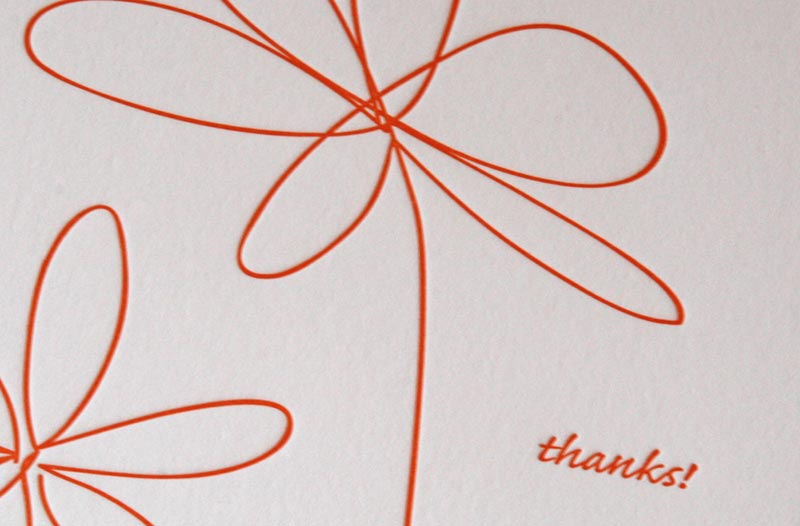 Doodle Flowers Thank You Cards