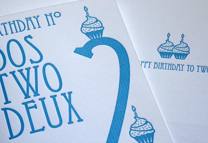 Birthday No. Dos Two Deux