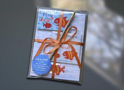 Fish Friends Kids Fun Pack Set – Sky of Blue Cards – $19