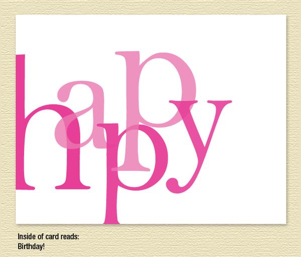 """Happy"" Birthday Card"