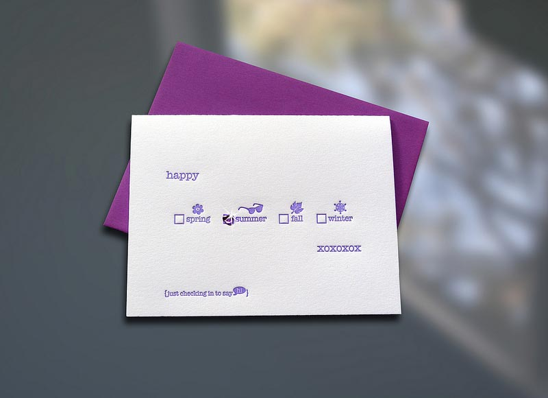 Happy Seasons w/ Gemstone Sticker Note Card