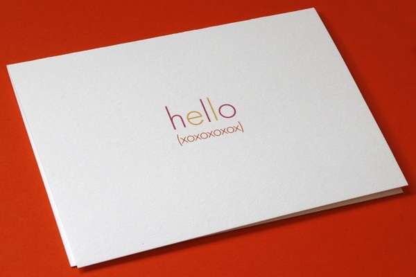 Hello xoxox Note Card