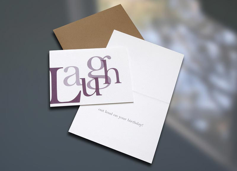 """Laugh"" Birthday Card"