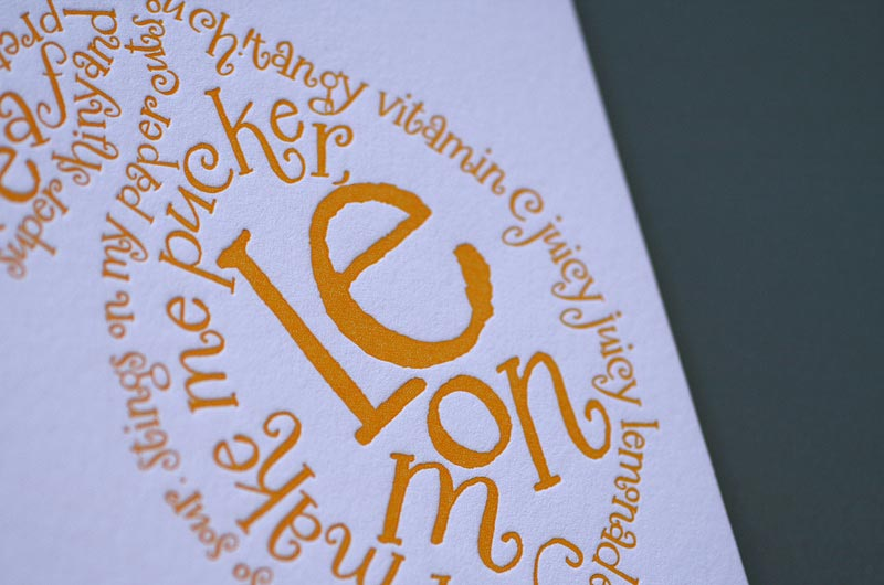 Lemon Poem Note Card